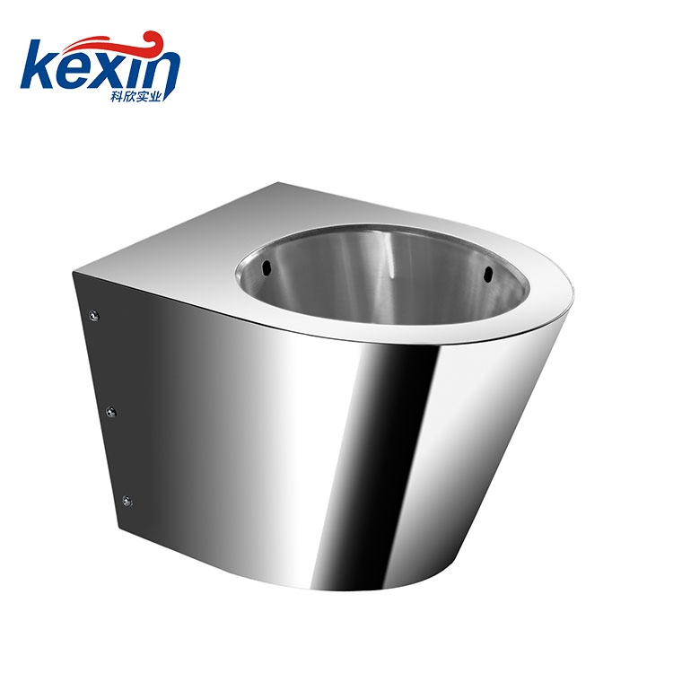 Stainless Steel Replacement for Most On-Floor, Wall Waste, Vitreous China Siphon Jet Toilet, Front Mount