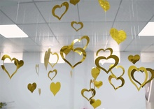 Shining Colorful Heart Hanging Accessories Baby shower Christmas Festival decorations DIY