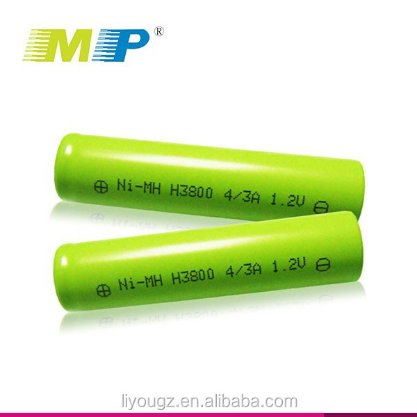 MP 2016 China Supplier Newest Brand High Quality Ni-MH 3800mAh 4/3A 1.2V Small Rechargeable Battery