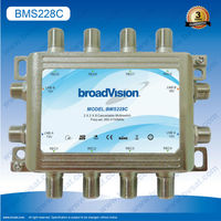 Widely applies for Community hotel and home 2x2x8 cascadable satellite multiswitch