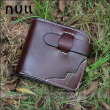 High Quality Genuine Cowhide Vegetable Tanned Leather <strong>Wallet</strong> Men