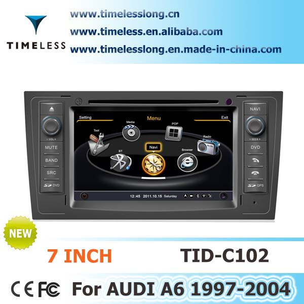 S100 Car Multimedia DVD for AUDI A6 1999-2004 year with A8 chipest, gps, bluetooth, sd, ipod, 3g, wifi