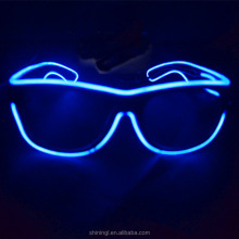Light-up illuminated neon electroluminescent el wire glasses light flashing frame custom sunglasses