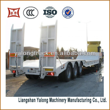 3 axles low bed trailer for equipment transportation