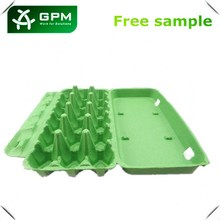 Molded fiber latest design Paper pulp eggs cartons for 18 holes