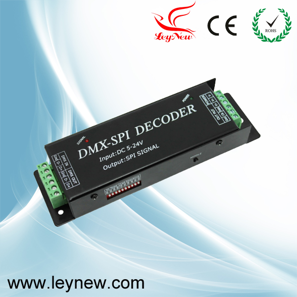 DMX-SPI Decoder DMX-512 digital control signal transformes it into SPI signal DC5-24V