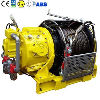10 Ton Heavy Duty Offshore Mooring Air Powered Tugger Winch Air Winch for Drilling Rigs