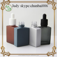 For Men 30ml rectangle bottles for ejuice, dark matte glass dropper bottles with childproof and tamper evident cap