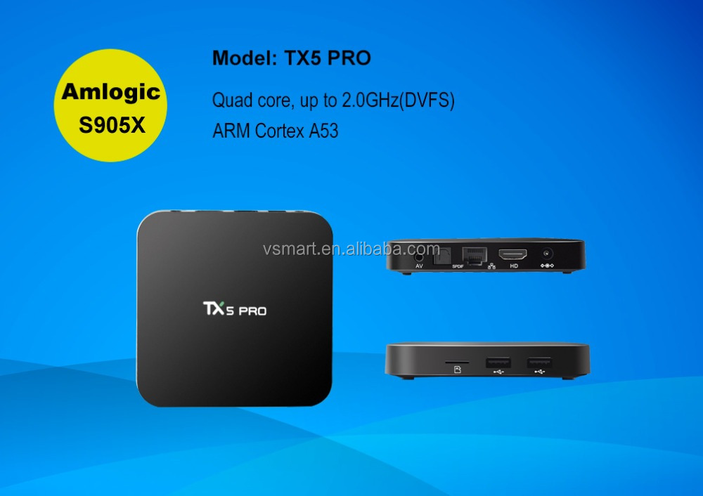 Android 6.0 TV Box TX5 Pro S905x Quad core Google Play Store Android box 2GB 16GBtv box