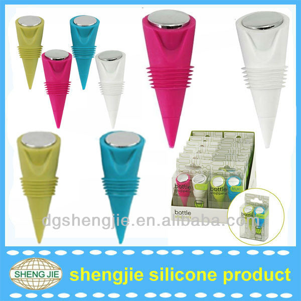 Fashion and portable wind bottle silicone stopper