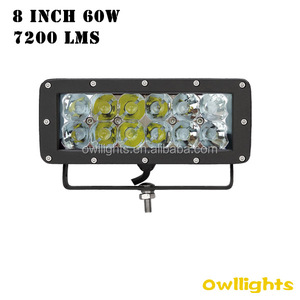 Fog light long distance trucking transportation auto parts 8 inch led light bar double row 8 inch 60W 12v led light bar for 4x4