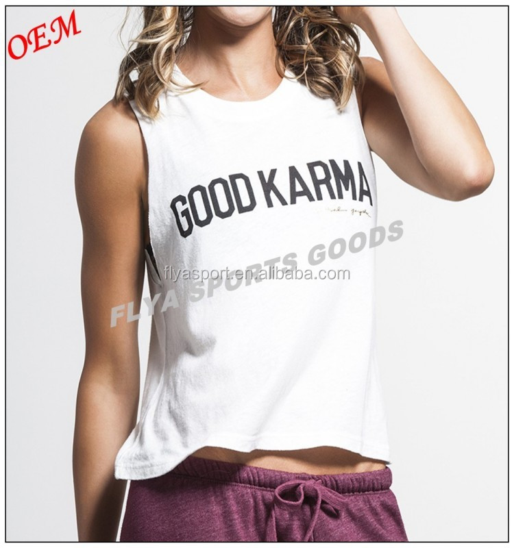 High Quality OEM Fashion 100% Cotton Custom Women Workout Muscle Tank Tops