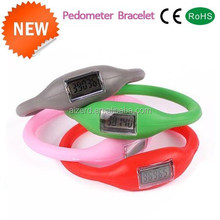 best selling silicone bracelet wristband pedometer