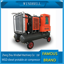 energy saving easy moving small diesel portable air compressor