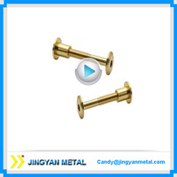 cnc precision machining brass aluminum furniture t nuts