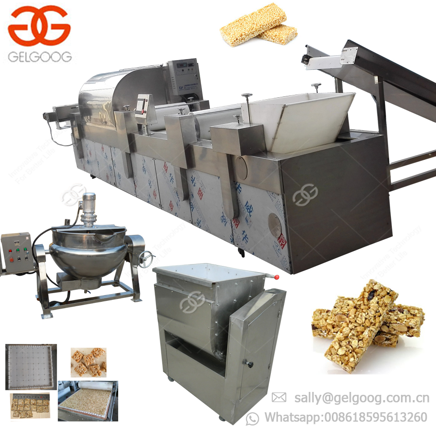 Gold Manufacturer Breakfast Muesli Maker Peanut Candy Production Line Cereal Granola Energy Protein Bar Making Machine Price