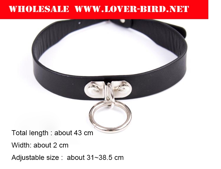 PU Leather Bondage Collar with Neck Ring Fetish Sexy bondage Slave Collar Sex Toys For Men Women Adult Games Sex Products For Co