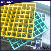 44%Hole-opening rate fiberglass catwalk grating, molded frp grids