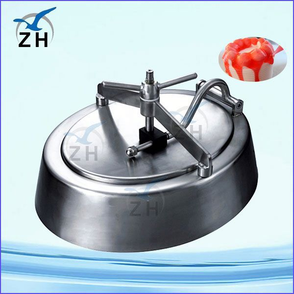 Sanitary stainless steel tank sanitary square manhole cover with pressure