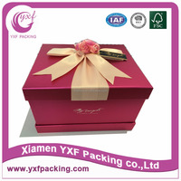 scarlet delicate gift packing box for wedding biscuits cakes