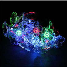 Solar Power LED Garden Yard Morning Glory String Lights Festival Lamp