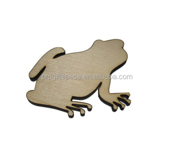 2017 Frog Toad Laser Cut Unfinished Wood Shapes Variety of Sizes Craft Supply made in China