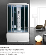 2017 New massage steam sauna shower room with tempered glass sliding doors