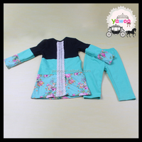 2016 new design patchwork tops icing leggins set wholesale kids clothing international kids wear brand islamic children clothing
