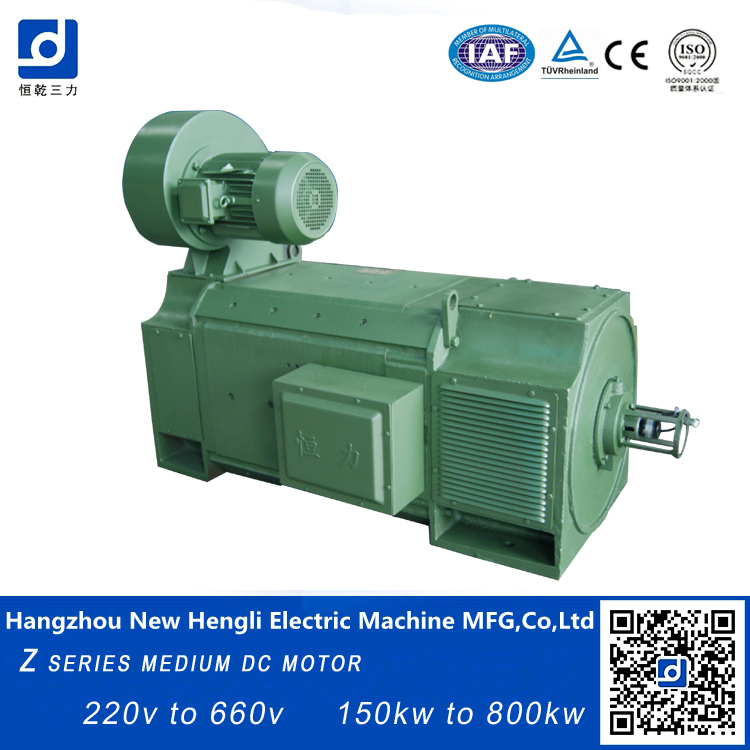 High quality 150kw 440v 80 hp brush electric dc motor for 100 hp dc motor