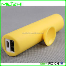 Top quality powerbank cylinder suction 18650 battery powerbank for smartphone