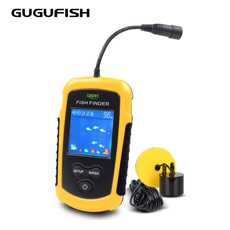 Fish Finder Portable Sonar Wired LCD Fish depth Finder Alarm 100M Electronic <strong>Fishing</strong> Tackle Free Shipping