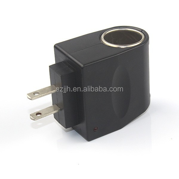 Best selling 1 port 12V1A AC DC LED light cigarette plug adapter