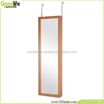 saving spave Full length Wooden Mirrored Jewelry Cabinet for Dressing Bedroom