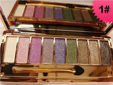 9 Colors Diamond Colorful Makeup Eye Shadow Glitter Eyeshadow Palette