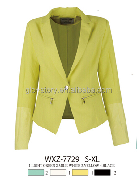 Glo-story 2015 fashion women blazer jackets cheap suit blazer