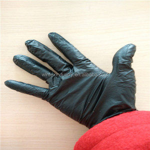 Disposable/Single Use, Black Powder Free 100% Nitrile Examination Gloves,non sterile black examination nitrile gloves