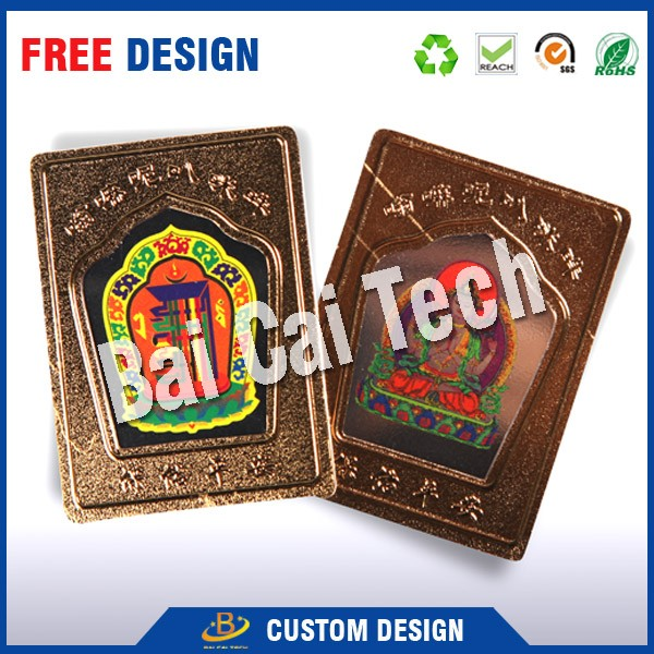 Factory price customized gold foil embossing nameplate, gold foil picture, gold foil sticker