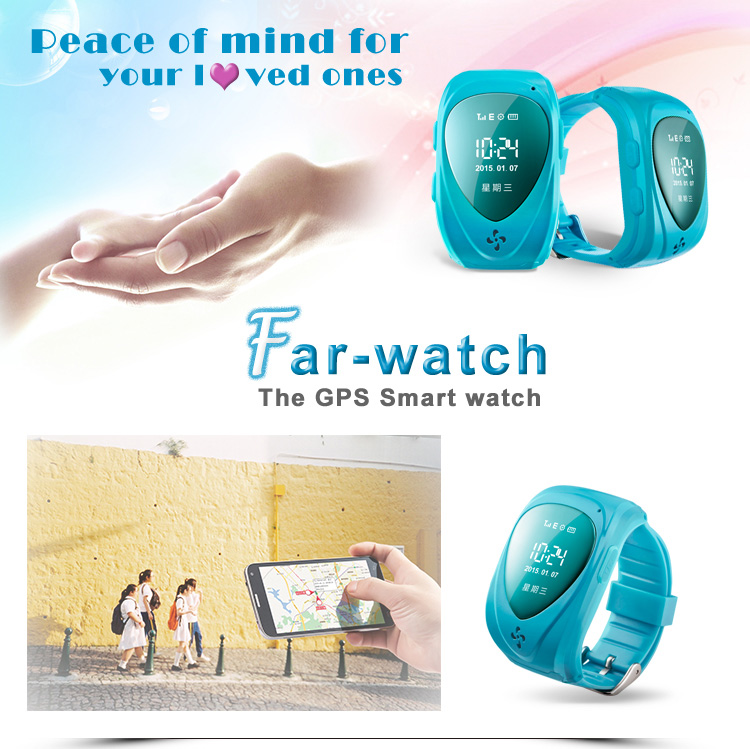 Android app tracking smart gps tracker watch