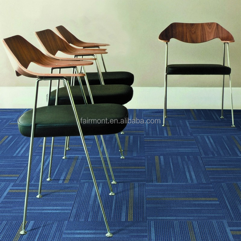Office Blue Waterproof Carpets