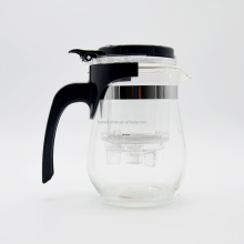 New design glass tea pot clear glass tea pot