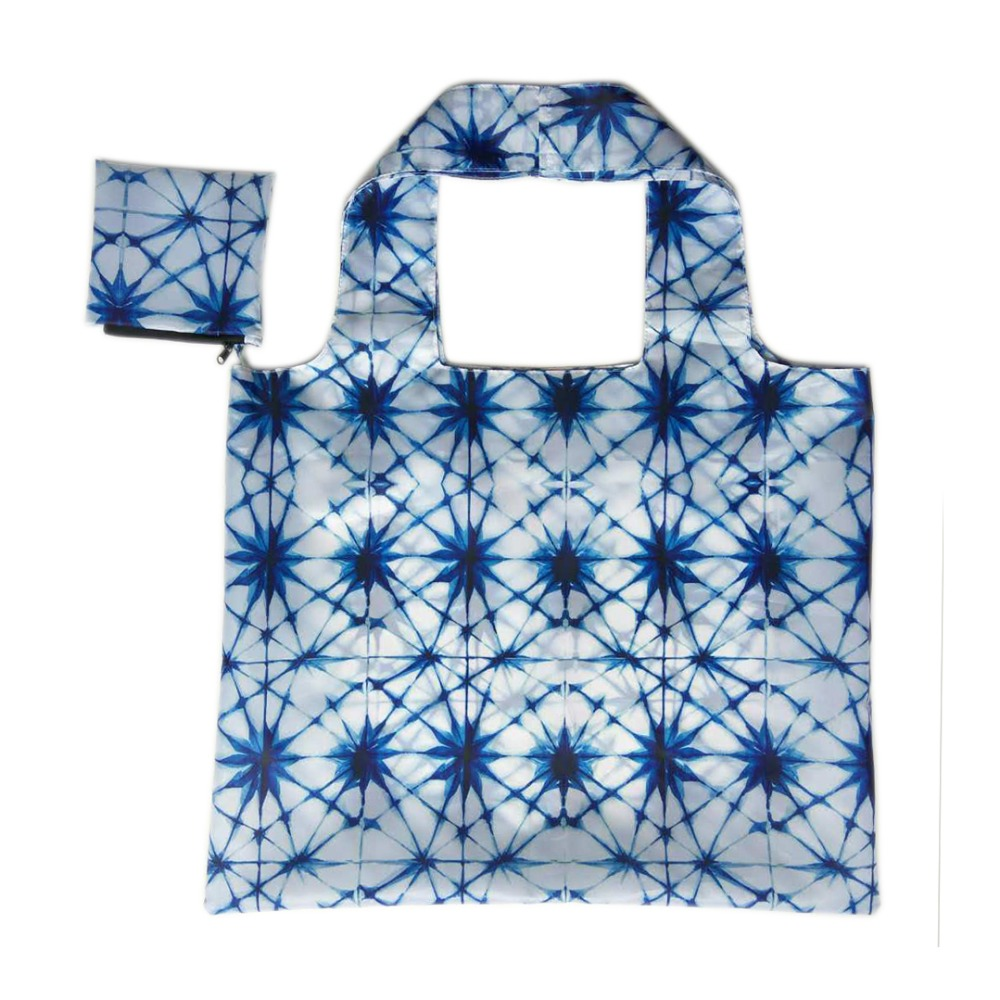 Latest custom design foldable polyester shopper bag with print
