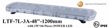 ECE R65 High Power LED Light bar (LTF-7L-3A-48 Inch, 120 cm),1Wx66LEDs,IP 65 Water-proof