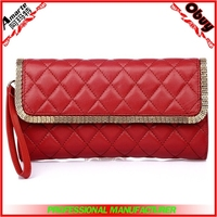 Fashion clutch pu cheap ladies small handbag purse