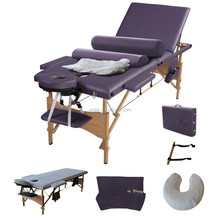 2015NEW!!!3 section cheap wooden portable spine massage bed