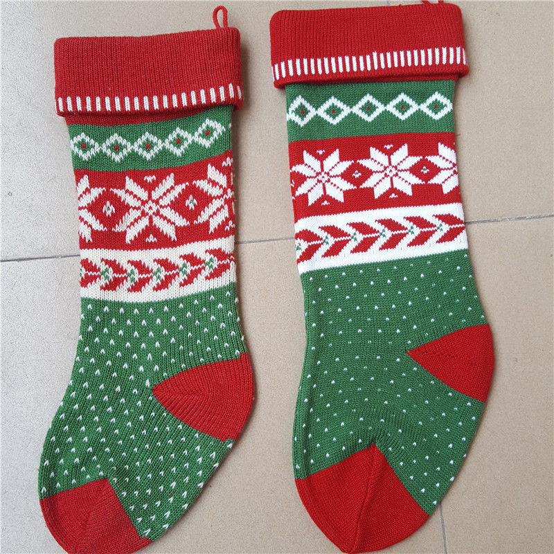 Morewin Custom OEM Christmas Knitting Gift Candy Stocking Wholesale