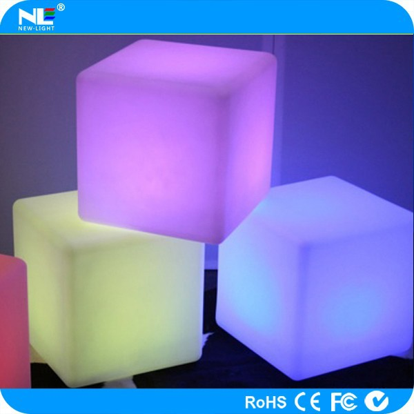 Pretty nice waterproof LED lighting cubes table and chair / RGB fancy LED plastic cube