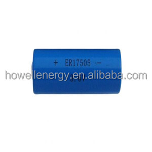 ER17505 3600mah 3.6V Li-SOCI2 Primary Lithium Battery widely used in electricity gas and flow instrument
