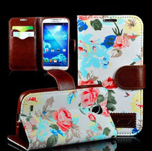 NEW elegant luxury Butterfly flower Noble concise Flip Leather Case For Samsung Galaxy S4