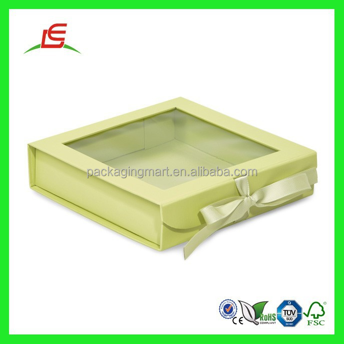 Q980 Custom Clear Window Box See Through Gift Boxes, Pop-up Gift Box Wholesale