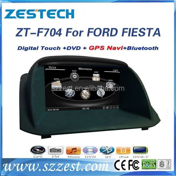 ZESTECH Dashboard placement and 7'' double din Car radio for ford FIESTA radio gps navigation oem